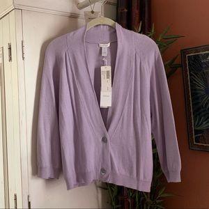 NEW! Chico's Lavender V neck cardigan sweater